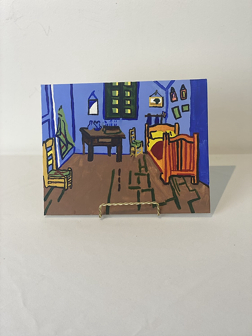 """The Bedroom recreation by David Idell - 8x10"""" canvas board"""