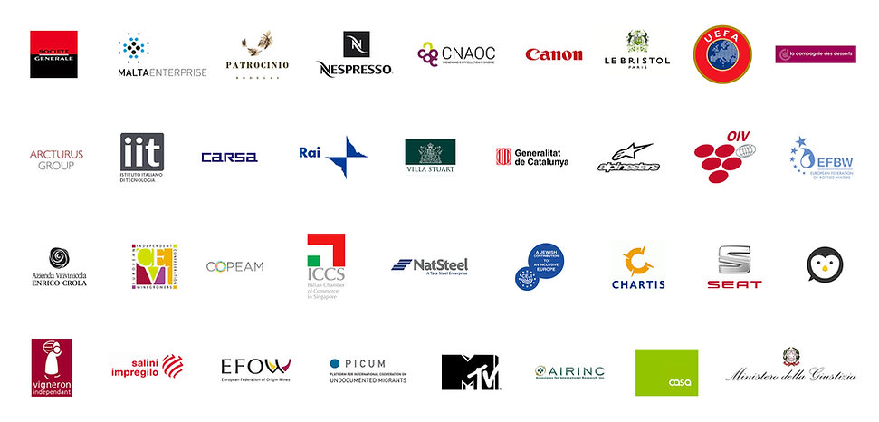 Logos of some of Traducendo Ltd's clients