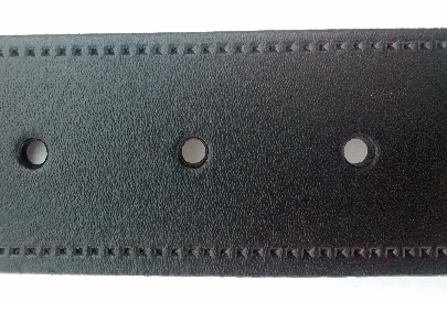 Black stitching embossed