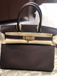 06135019a61 Hérmes Birkin 30cm Chocolate Togo Leather with Gold Hardware (Store ...