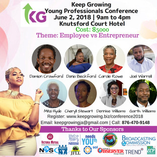 2nd Staging of Keep Growing Young Professionals Conference  June 2, 2018 at Knutsford Court Hotel
