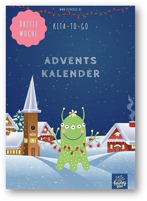 Wochenplan: Dritte Woche des Adventskalenders