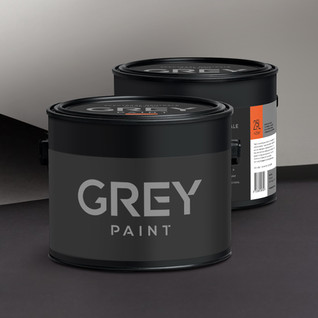 Branding/packaging: Grey paint