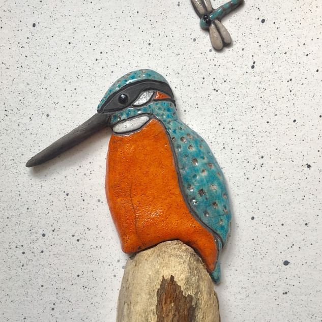 Raku Fired Kingfisher