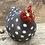 Thumbnail: Raku Fired speckled Hen 'Dotty ' comes with two display eggs