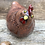 Thumbnail: Raku Fired Speckled Hen 'Penny' comes with two free display eggs!