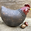 Thumbnail: Raku fired chicken 'Gertrude' comes with two display eggs!