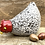 Thumbnail: Raku Fired speckled Hen 'Lacy' comes with two display eggs
