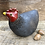 Thumbnail: Raku fired chicken 'Ebony' comes with two display eggs.