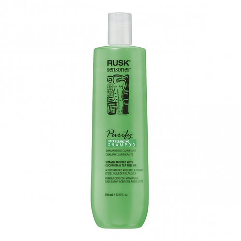RUSK PURIFY DEEP CLEANSING SHAMPOO 13.5 OZ