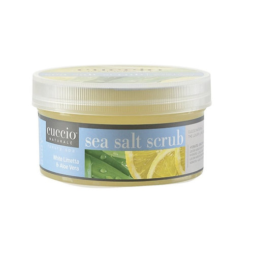 CUCCIO SEA SALT SCRUB WHITE LIMETTA AND ALOE VERA