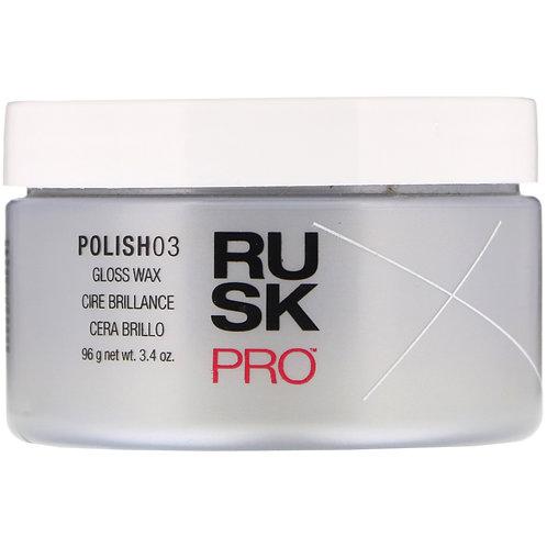 RUSK GLOSS WAX POLISH 03 PRO 3.4OZ