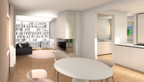 Rendering Wohn- und Esszimmer