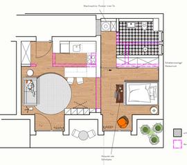 Grundrisszeichnung Appartement