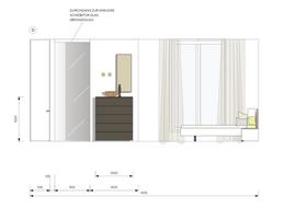 Ansichtszeichnung Schlafzimmer