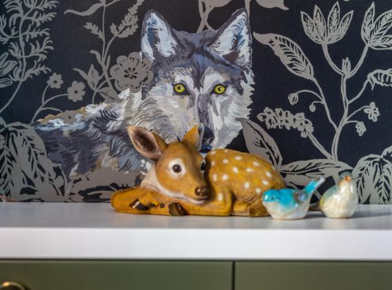 Wolf und Reh