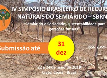 IV Simpósio Brasileiro de Recursos Naturais no Semiárido