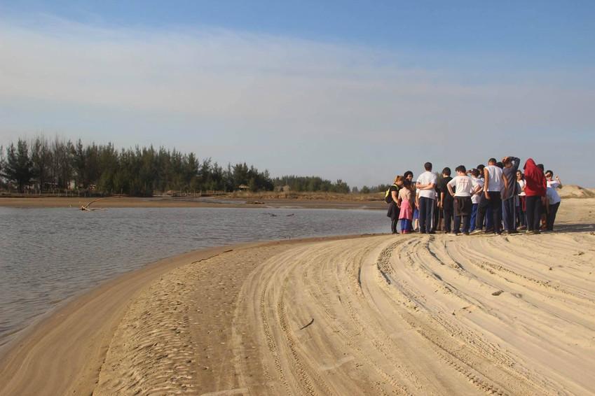 foz do rio Urussanga - praia do Torneiro