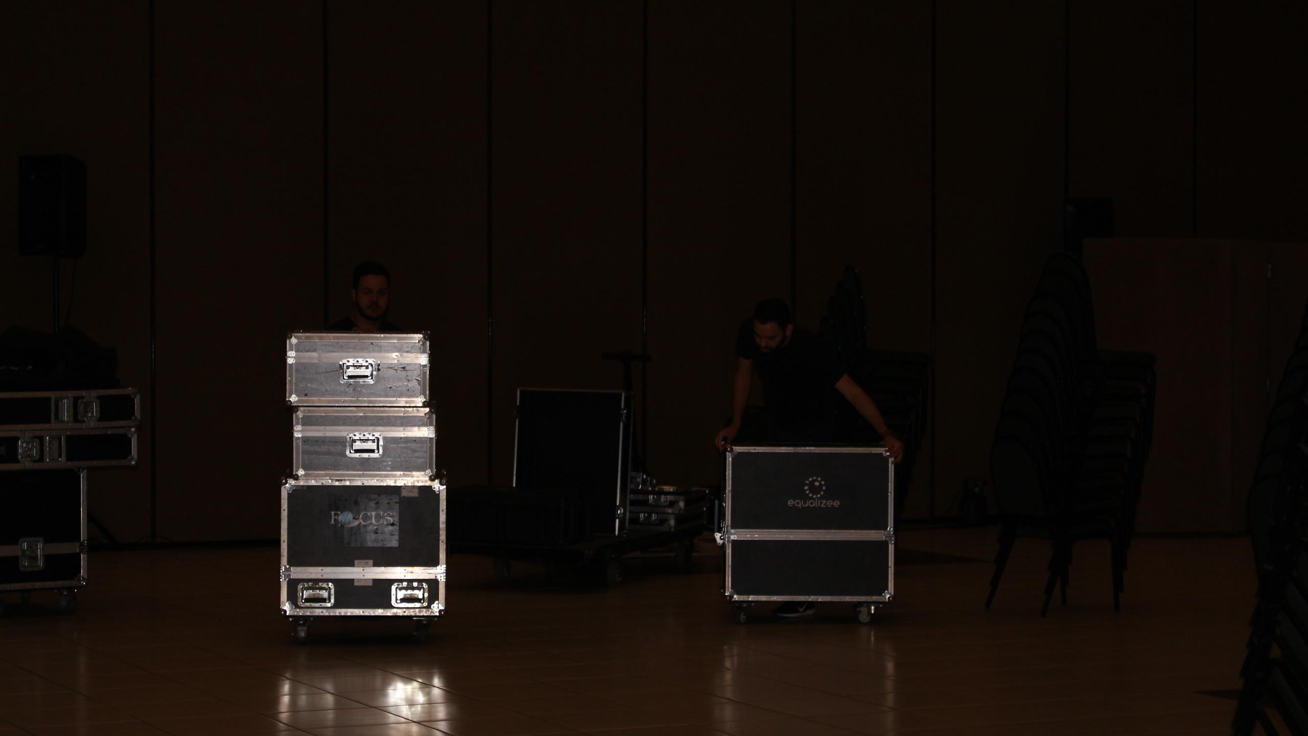Auditório instalação de som