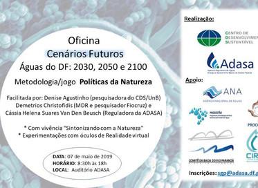 Oficina de Cenários futuros Águas do DF: 2030, 2050, 2100.
