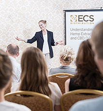 woman-giving-ECS-presentation_shuttersto