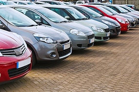 Rental Cars sitting waiting for drivers