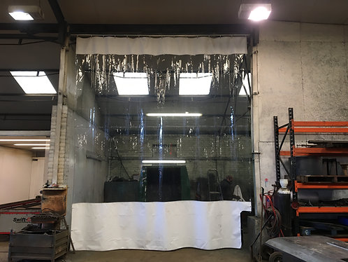 12ft High Workshop Divider Curtains  (Industrial Track Fitting Kit)