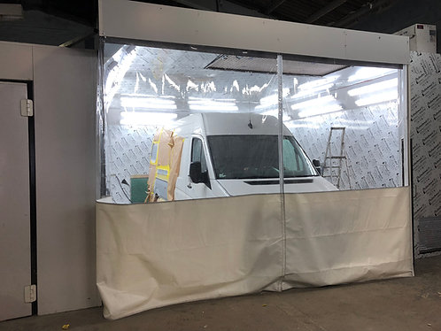 10ft High Spray Booth Curtains (economy wire fixing kit)