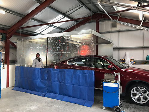 8ft High Spray Booth Curtains (economy wire fixing kit)