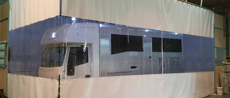 10ft High Spray Booth Curtains  (Industrial Track Fitting Kit)