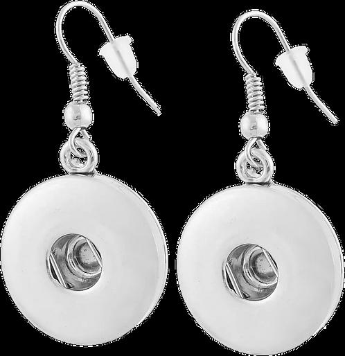 Snap Button Earrings 18MM Alloy Snap Button Hook Earrings + 2 FREE SNAPS!