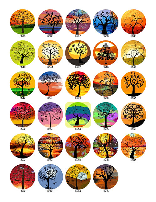 Funky Silhouette Tree Collection