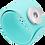 Thumbnail: Turquoise Single Snap Silicone Slap Bracelet+ 3 FREE SNAPS