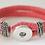 Thumbnail: Adjustable Leather Loop Clasp Single Snap Bracelet Fits 18/20mm + 3 FREE SNAPS!