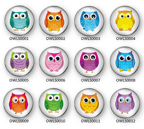 Colorful Owls OWLS0001-OWLS0012