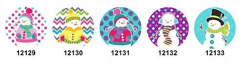 Winter Snowmen 12129-12133