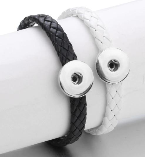 Single Snap - Elegant Woven Clasp Bracelet + 3 FREE SNAPS!
