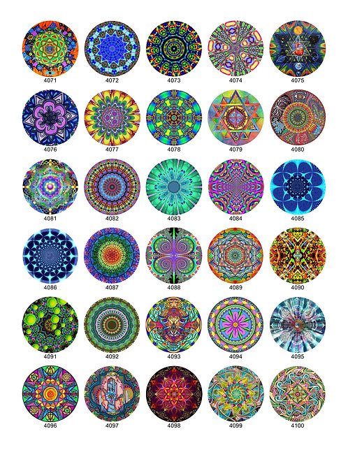 Psychedelic Mandala Design Collection