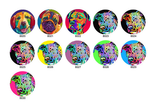 Abstract Colored Dog Collection