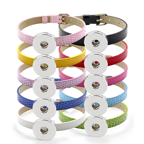 Single Snap - PU Leather Buckle Bracelet + 3 FREE SNAPS!