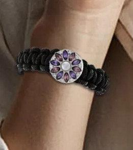 Single Snap Woven Paracord Survival Bracelet Fits 18/20mm + 3 FREE SNAPS!