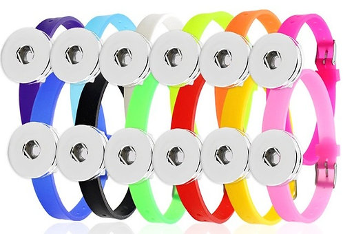Single Snap - Silicone Buckle Bracelet + 3 FREE SNAPS!
