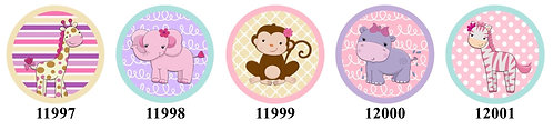 Baby Safari Animals 11997-12001