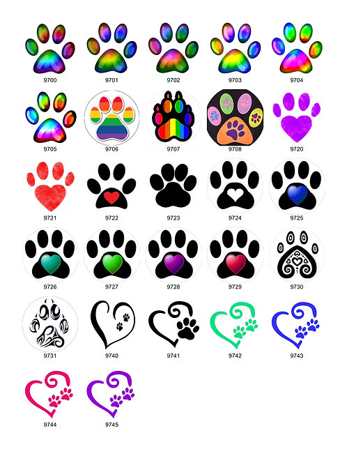 Paw Print & Heart Collection
