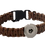 Thumbnail: Single Snap Woven Paracord Survival Bracelet Fits 18/20mm + 3 FREE SNAPS!