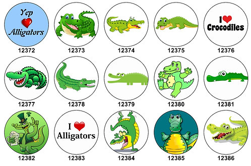 Alligators Crocodiles 12372-12386