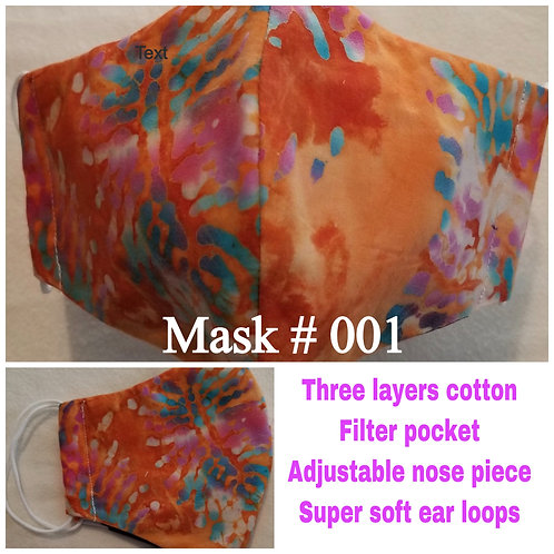 Cloth Masks - Olson Style - Non-medical Grade