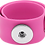 Thumbnail: Pink Single Snap Silicone Slap Bracelet+ 3 FREE SNAPS