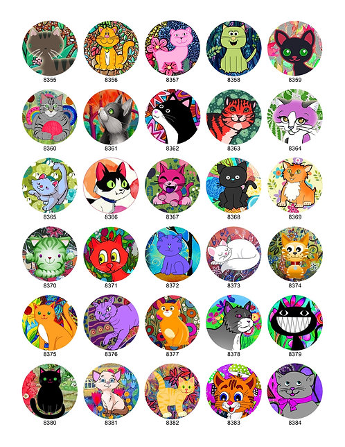 Cute Colored Cat Collection
