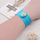 Thumbnail: Light Blue Single Snap Silicone Slap Bracelet+ 3 FREE SNAPS